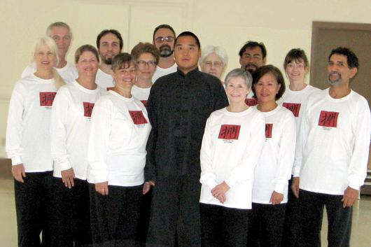 Chen Wei Tung with T�ai Chi Ch�uan students at Texas Workshop 2008